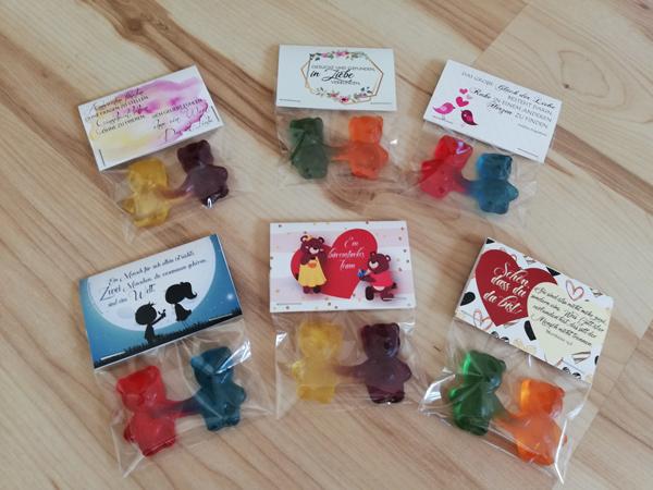 Geschenke zum Teilen Gummibärchen personalisiert